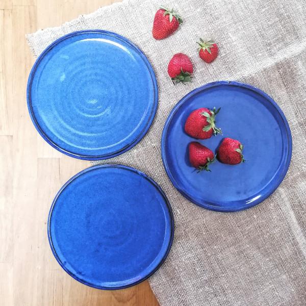 kleiner Teller blau (Kuchen / Frühstück)
