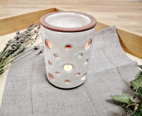 Duftlampe cremeweiß (verschiedene Muster)