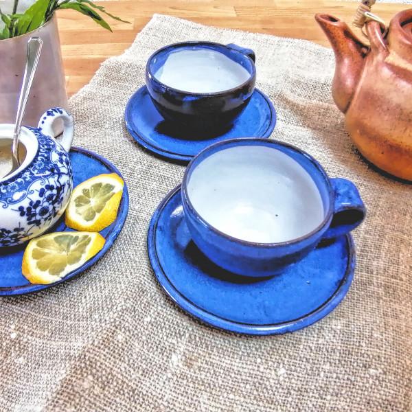 Teetasse blau
