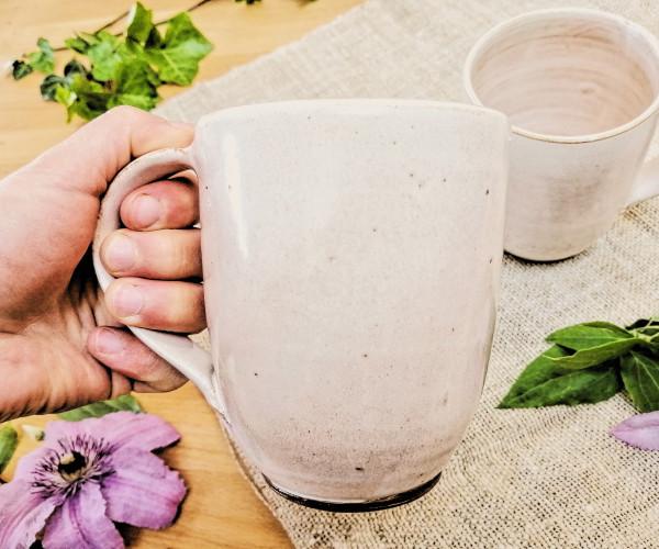 Kaffeetasse XL cremeweiß