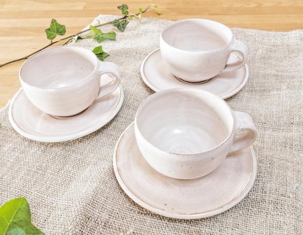 Teetasse cremeweiß