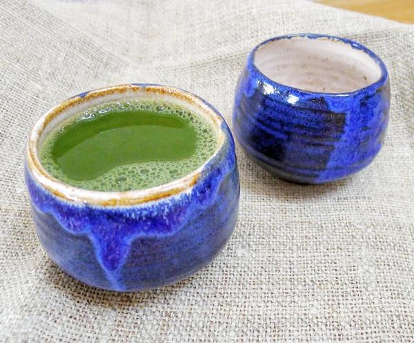 Teeschale blau