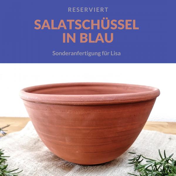 Sonderanfertigung: Salatschüssel für Lisa