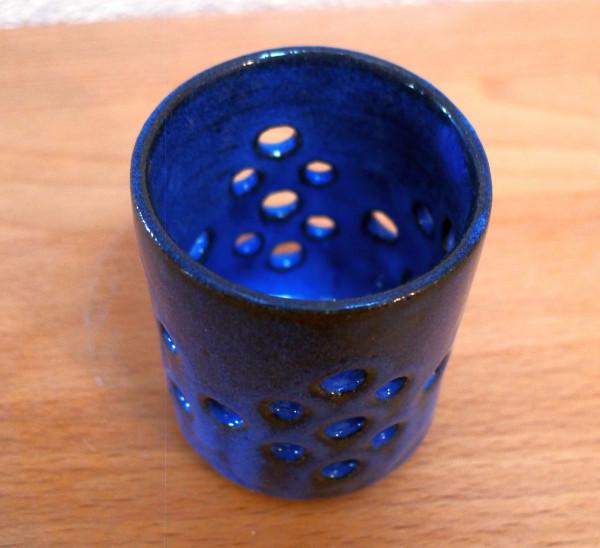 Teelicht blau handgemacht