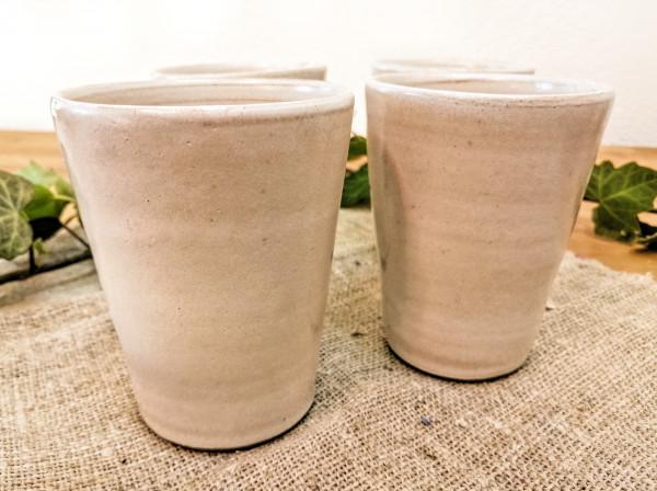 Becher (Wasser / Saft) cremeweiß