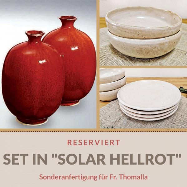 Sonderanfertigung: Tellerset in Hellrot